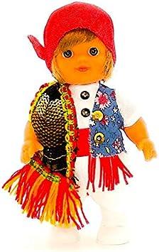 Amazon.es: Folk Artesanía Muñeco Regional colección de 15 cm con Vestido típico Alicantino Foguerer Alicante España.: Juguetes y juegos