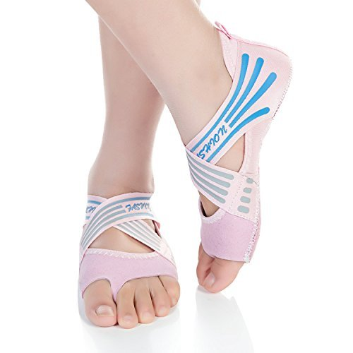 Non for Women's Slip Yoga Grip Half Pilates Toe Ballet Barerun Bellarina Barre Pink Shoes qx68ZdY