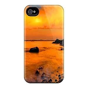Cynthaskey Iphone 5C Well-designed Hard Case Cover Coastal Rocks Protector