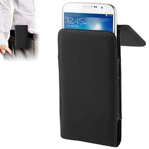 """DFV mobile - Leather Flip Belt Clip Metal Case Holster Vertical for =>      APPLE IPHONE 6 PLUS [5,5""""] > Black"""