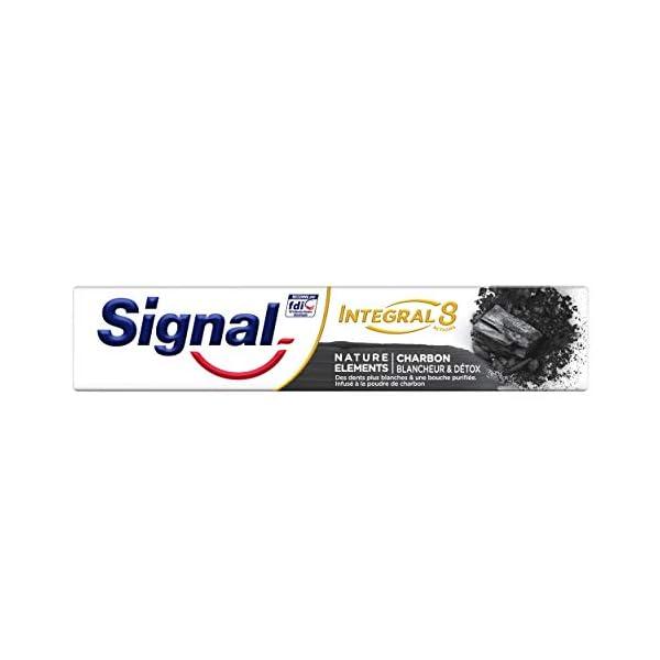 Signal Kit Régime Dentaire Nature Elements : 3 Dentifrices Blancheur et Detox Charbon Antibactérien et 1 Brosse à Dents…
