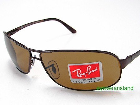 7e42a49248 New Ray Ban Rayban Rb 3343 014 57 Brown Frame Polarized Brown Lens  Sunglasses Size  63-12-125  Amazon.co.uk  Clothing
