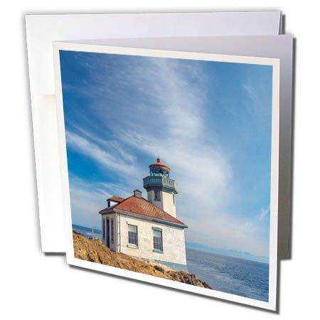 3dRose Danita Delimont - Lighthouses - Washington, San Juan Island, Lime Kiln Point Lighthouse. - 12 Greeting Cards with envelopes (Lime Kiln Lighthouse)