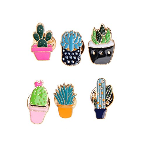 - Misright 6PCS Enamel Cactus Brooches Pins for Women,Vintage Gifts for Christmas/Daily/Birthday