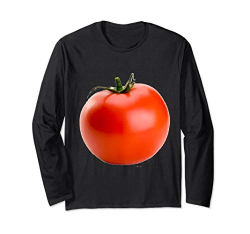 (Giant Red Tomato Long Sleeve T-Shirt)