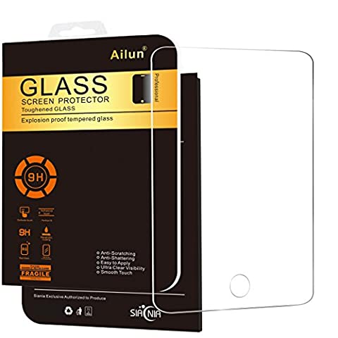 iPad Mini Screen Protector,by Ailun,Tempered Glass,for Apple iPad Mini 1/2/3,2.5D Edge,Ultra Clear,Anti-Scratch,Case Friendly-Siania Retail (Screen Protector For Mini Ipad 1)