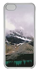 Customized Case landscapes nature snow lake 21 PC Transparent for Apple iPhone 5C by icecream design