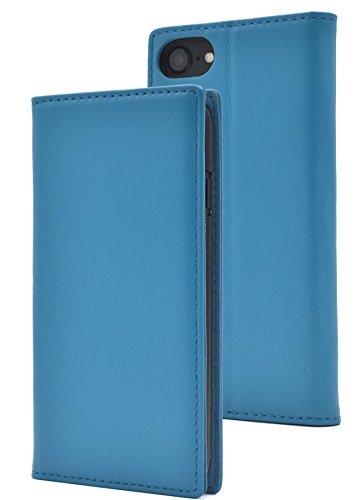 PLATA iPhone6/iPhone6s/iPhone7/iPhone8 ケース 手帳型 ラム シープスキン 羊革 本革 レザー カバー アイフォン 6 6s 7 8 【 ライトブルー 水色 みずいろ lightblue 】