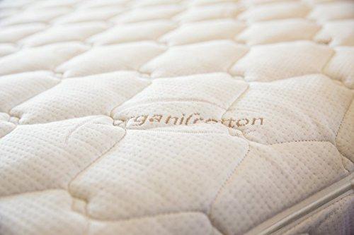 A.Diamond QWTQW Quilted Wool Organic Pillow Top Mattress Pad, Queen