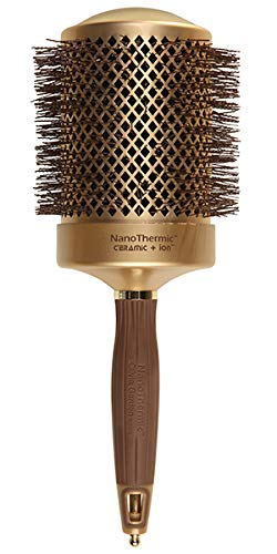 "Olivia Garden NanoThermic Ceramic + Ion Round Thermal Hair Brush NT-82 (3 1/4"")"