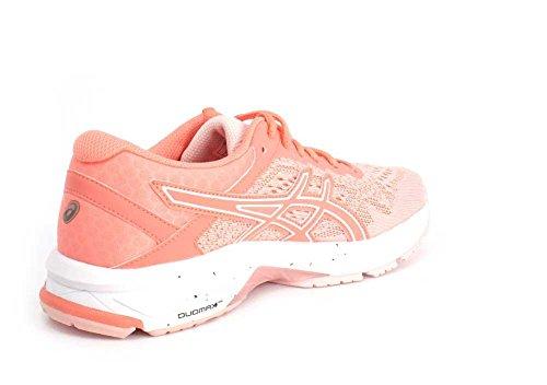 Asics Donna Gt-1000 6 Scarpa Da Corsa Conchiglia Rosa / Begonia Rosa-bianco