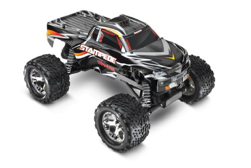 All Star 3 Channel Receiver (Traxxas Stampede 1/10 Scale 2WD Monster Truck with TQ 2.4GHz Radio, Black)