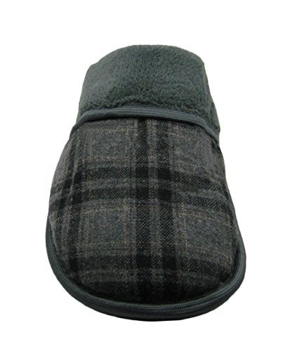 Blue Gray Upper Slipper Fashion Scuff Micro or House Suede Plaid Mens Plaid FwRpdqgv