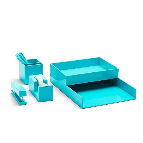 Poppin All Desk Collection Aqua product image