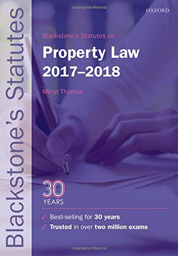 Blackstones Statutes On Property Law 2017 2018  Blackstones Statute Series