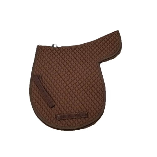 Golden mall Full Size Roma Contour Quilted Saddle Pad/Cotton Saddle pad?Brown?