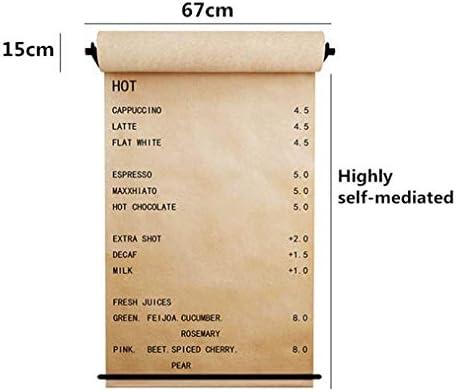 67cm BüRokonzept - Studio Zeichnung Hinweis - Wandbehang Dekor Papier Roll Display - Wand-Set Enthalten 1 Spender, 1 Rollenpapier, 1 Horizontaler Fixstreifen,Blackframedkraftpaper