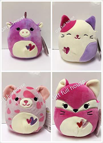 Squishmallow Kellytoy Valentines Squad Edition Plush Stuff Pet 5