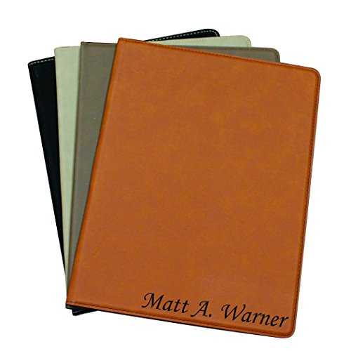 Personalized Leather Padfolio (Custom Personalized Business Portfolio with Engraved Journal Notepad Padfolio Gifts)