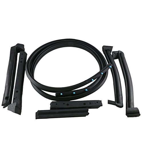 Eckler's Premier Quality Products 25-106410 - Corvette Convertible Top Weatherstrip Kit EPDM ()