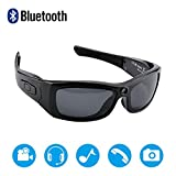 Newwings Bluetooth Sunglasses with Camera Full HD 1080P Video Recorder Camera with UV