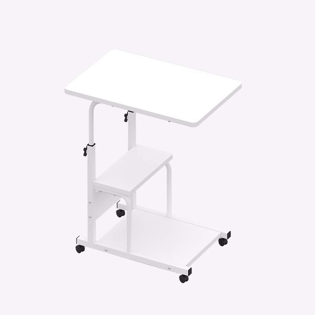 WDOPZMS Modern Removable Sofa Side Table with Bold Steel Tube Structure Adjustable Height Desk Living Room Bedroom Balcony Office End Table Easy to Assemble by WDOPZMS