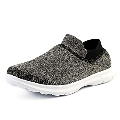 SoftPro Women's Athletic Shoes with Comfortable Memory Foam Insole, Sneakers Breathable Sport Shoes, Walking Shoes Gray Size: 7