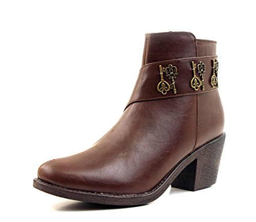 Luckers Womens Chelsea Bootie Key-brown