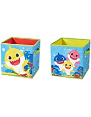 Baby Shark 2 Piece Collapsible Storage Cubes
