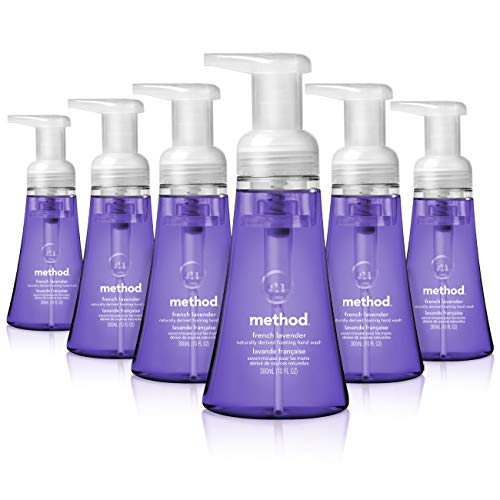Method Foaming Hand Soap, French Lavender, 10 Fl. Oz (Pack of 6)