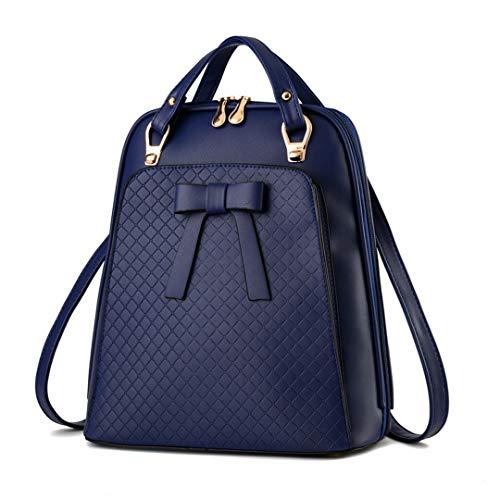 Blue sac cuir sac sac de PU bandoulière en école sac l'afflux version femmes Dames coréenne dos dos de TZxqdZEw