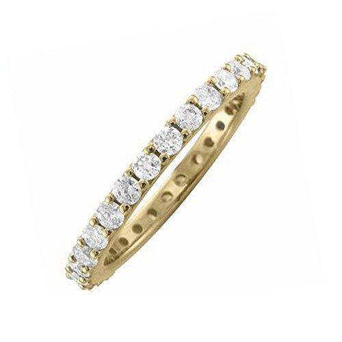 - 0.92 ctw 14K White Gold Round Diamond Eternity Wedding Anniversary Ring Band