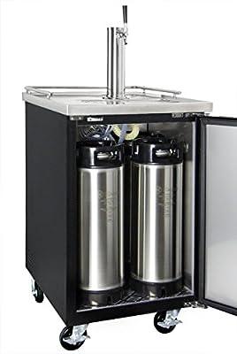 Kegco XCK-1 Commercial Kegerator Beer Dispenser with home brew ball lock dispense kit