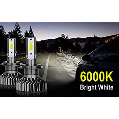 7200Lm Compact LED Headlight Bulbs [9006 (HB4), 6000K Bright White] All-in-One COB Direct Replacement Kit: Automotive