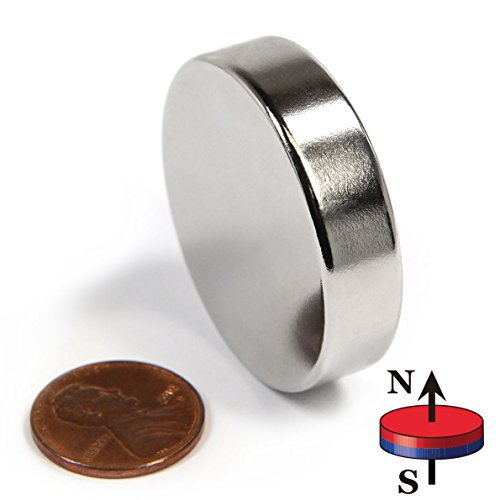 """CMS Magnetics Powerful Rare Earth Neodymium Disc Magnet Grade N45 1.5"""" Diameter x 3/8'' Thick – One Piece House Magnets Door Magnets Super strong Magnets For Sale by CMS Magnetics"""