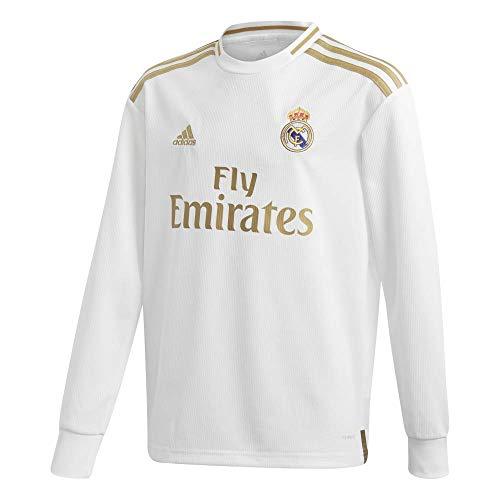 - adidas 2019-2020 Real Madrid Home Long Sleeve Football Soccer T-Shirt Jersey (Kids)
