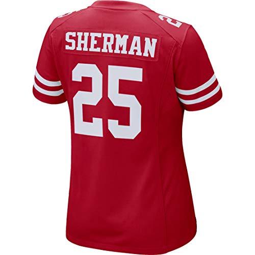 - Ray.eto Women Richard_Sherman_25_Scarlet Fans Replica Jersey Sportswear Custom Football Game Limited Elite Legend Jerseys