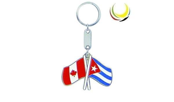 Amazon.com: Keychain CANADA-CUBA Flags: Everything Else