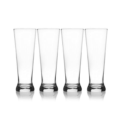 Mikasa Laura Pilsner Glass, 22-Ounce, Set of -