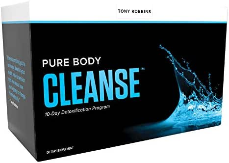 Tony Robbins Pure Body Cleanse - Awaken The Giant Within - 10 Day Detox Program with Vegetarian V-Protein Powder, Target Detox & DigestEase Capsules (20 Drink Mix + 20 Capsule Packets)