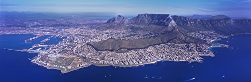 Posterazzi Aerial View of an Island Town Western Cape Province South Africa Poster Print (36 x 12) (Aerial View Of Cape Town South Africa)