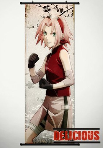 Home Decor Japanese Anime Naruto Cosplay Wall Scroll Poster Haruno Sakura