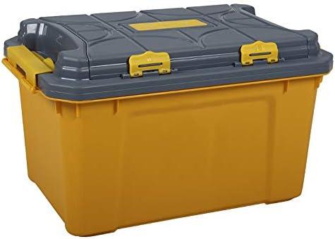 EVERAIE Caja de Almacenamiento del Maletero del Coche, Organizador del cajón del Tronco for la Caja del Organizador de la Tapa del Tronco del plástico del Coche for el Amarillo del Viaje: