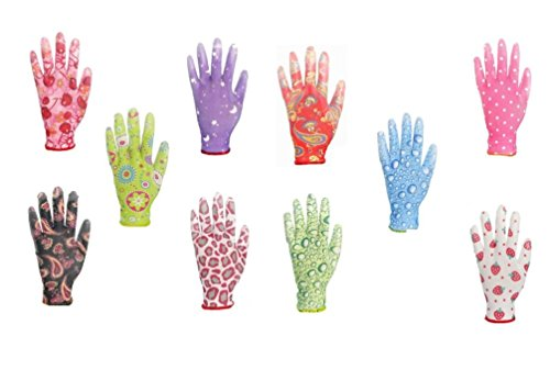 Ixkes CrazyGloves Damenhandschuhe 10er Pack im Farbmix 7 Farbmix