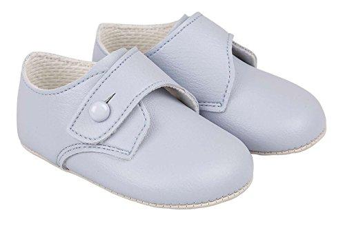 Lujo británico hecho bebé chico Estilo de hebilla Ocasión especial bautizo Boda fiestas Zapatos suaves y elegantes