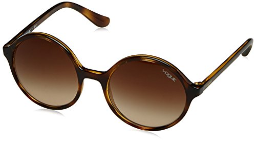 VOGUE Women's Injected Woman 0vo5036s Round Sunglasses, Dark Havana, 52 - Vogue Glasses Havana