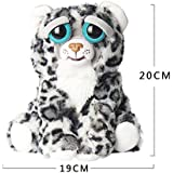 New Feisty Pets Change face, Cute Stuffed Lovely and Angry, Soft Stuffed Cat Plush Toy, Super Cute Cartoon Toy cat and Leopard, Variable-Face Plush Doll for Kids (Gray)