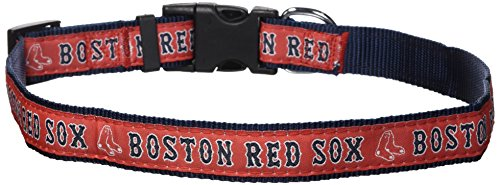 (MLB BOSTON RED SOX Dog Collar, Large)