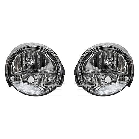 (Fits 2003-2005 Ford Thunderbird Headlight Driver and Passenger Side Bulbs Included FO2502208 FO2503208 - Replaces 3W6Z 13008 AD, 3W6Z 13008 AC ;includes signal lamp)