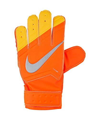 Nike Grip Goal Keeper Junior Gloves (Hyper Crimson/ Laser Orange, 8)
